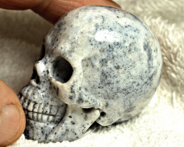 469.0 Carat Indian Agate Skull Carving - Cool