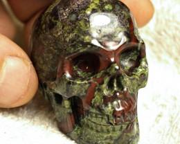539.0 Carat Dragon's Blood Jasper Skull Carving - Cool