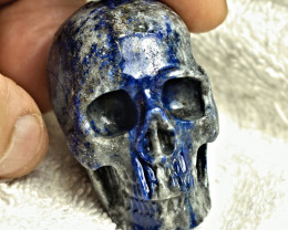 469.0 Carat Lapis Lazuli Skull Carving - Cool