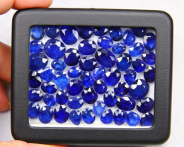 Blue Sapphire 180.17Ct 55Pcs Ceylon Navy Blue Sapphire B0903