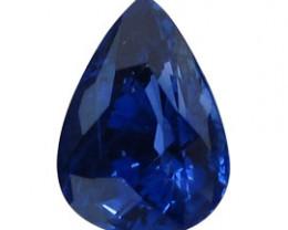 2.02 ct Pear Shape Blue Sapphire  (Rich Royal Blue)
