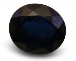 1.66 ct Oval  Blue Sapphire