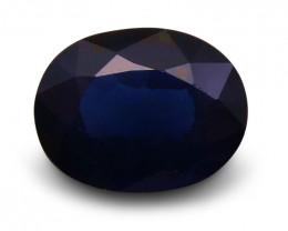 1.36 ct Oval  Blue Sapphire