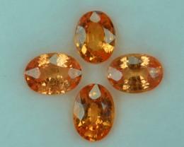 3.90 Cts Natural Fanta Orange Color Spessartite Garnet  Namibia Oval 7 X 5m