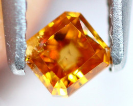 0.24Ct Untreated Fancy Intense Yellowish Orange Color Diamond A0703