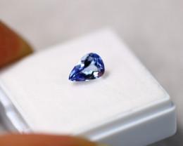 1.20ct Natural Violet Blue Tanzanite Pear Cut Lot D296