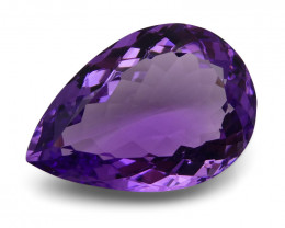 12.25 ct Pear Bolivian Amethyst - $1 No Reserve Auction