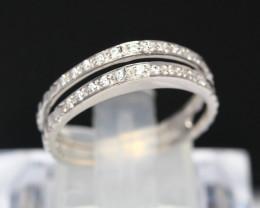 Diamond Ring 18Kt Gold F/VS Natural Diamond Ring D06