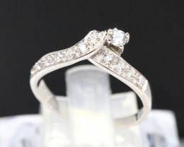 Diamond Ring 18Kt Gold F/VS Natural Diamond Ring D12