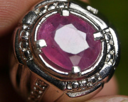 49.05 CT Pretty Pinkish Red Ruby Ring Jewelry