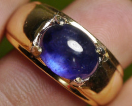41.45 CT Wedding Ring Royal Blue Sapphire Jewelry