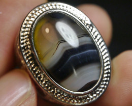 85.20 CT RARE Beautiful UNTREATED Picture Indonesian Agate Ring Jewelry