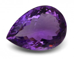 15.09 ct Pear Bolivian Amethyst - $1 No Reserve Auction