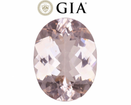 15.69 cts GIA Certified Morganite - Soft Pink $3250