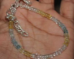 20 Crt Natural Multi Aquamarine Beads Bracelet 13