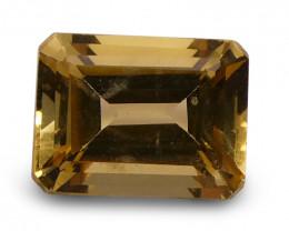 1.50 ct Emerald Cut  Heliodor/Yellow Beryl