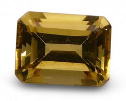 1.60 ct Emerald Cut  Heliodor/Yellow Beryl