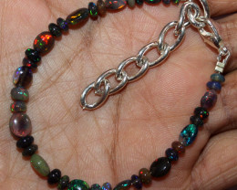 20 Crt Natural Ethiopian Welo Smoked Opal Beads & Nuggets Bracelet 6