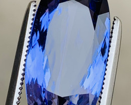 Superb Color 6.55 Ct Natural Tanzanite. ARA