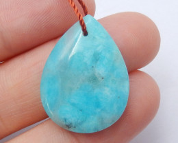 Amazonite gemstone pendant,amazonite necklace,gemstone pendant B588