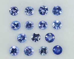 2.07Ct Excellent Natural Purple Blue Tanzanite Round 3mm Parcel