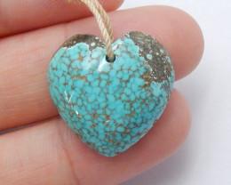 Beautiful Heart Turquoise ,Handmade Gemstone ,Turquoise Pendant ,Lucky Ston