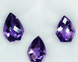Elegant Set 11.25Ct Natural Purple Amethyst Brazil