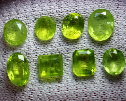 12.20 CT Natural - Unheated  Green Peridot Gemstone lot