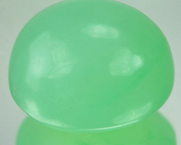 Natural Green Chrysoprase Oval Cabochon 18.82 Cts