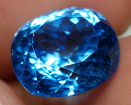 8.60 CRT LOVELY SWISS BLUE TOPAZ VERY CLEAR-