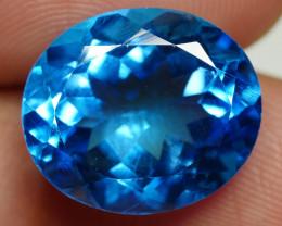 9.00 CRT LOVELY SWISS BLUE TOPAZ VERY CLEAR-