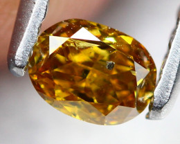 0.25Ct Untreated Fancy Deep Champagne Orange Color Diamond A0903