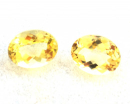 3.78 Carat Fine Matched Pair of Checkerboard Cut Heliodor Beryl