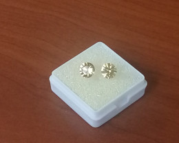 Golden colour Earring  Set  2.35 ct