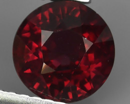 2.10 CTS NATURAL RHODOLITE~BRAZIL ROUND CUT ~ NICE QUALITY GOOD !!