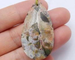 Sale Natural Jasper Pendant ,Handmade Gemstone ,Lucky Pendant Gift B616