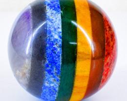 Genuine 910.00 Cts Seven Chakra Reiki Healing Sphere