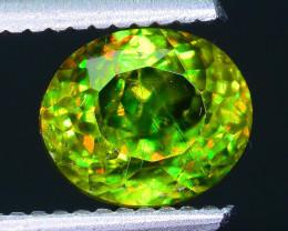Rare AAA Fire 2.51 ct Chrome Green Sphene Sku-33