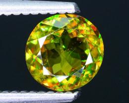 Rare AAA Fire 1.29 ct Chrome Green Sphene Sku-33