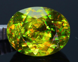 Rare AAA Fire 2.38 ct Chrome Green Sphene Sku-33