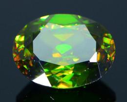 Rare AAA Fire 1.27 ct Chrome Green Sphene Sku-33