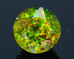 Rare AAA Fire 1.07 ct Chrome Green Sphene Sku-33