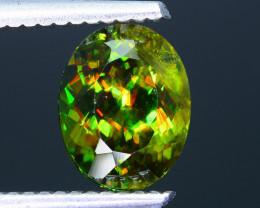 Rare AAA Fire 2.25 ct Chrome Green Sphene Sku-33