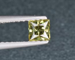 Natural Demantoid Garnet 0.45 Cts, Full Sparkle Faceted Gemstone