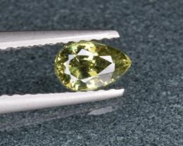 Natural Demantoid Garnet 0.56 Cts, Full Sparkle Faceted Gemstone