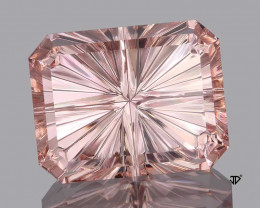 4.49 Carat Morganite Flawless Soft Pink Starbrite Master Cut RESERVED Barb.