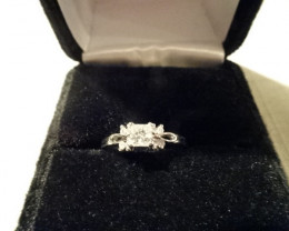 GENUINE DIAMOND ENGAGEMENT RING
