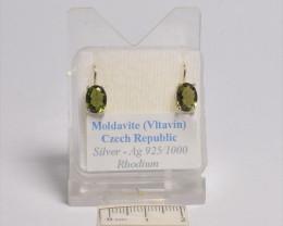 POLISHED MOLDAVITE EARRINGS (gr34)