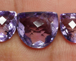 9.60 CRT BEAUTY PAIR CARVING PURPLE AMETHYST-