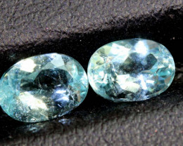 1.60CTS  PARAIBA  FACETED PAIR  TBM-1635